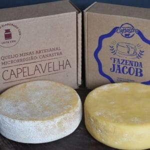 Kit Queijo da Canastra Tradicional Fazenda Jacob e Capela Velha Premiados